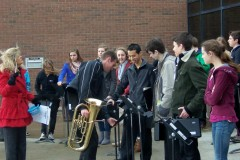 Chatham-Christian-School-Band-gathers-for-Kiwanis-Music-Festival-opening-ceremony-2014